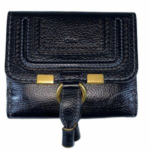 Chloe Black Leather Marci Wallet Square AUTHENTIC